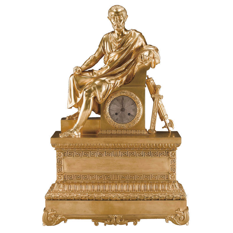 Empire Period Figural Clock