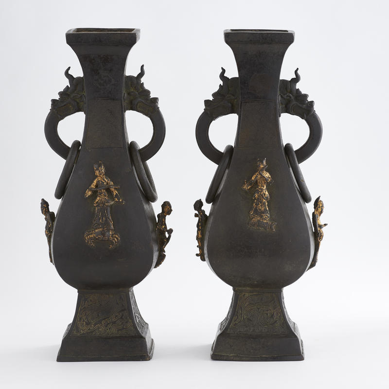 Pair of 17th Century Bronze Vessels