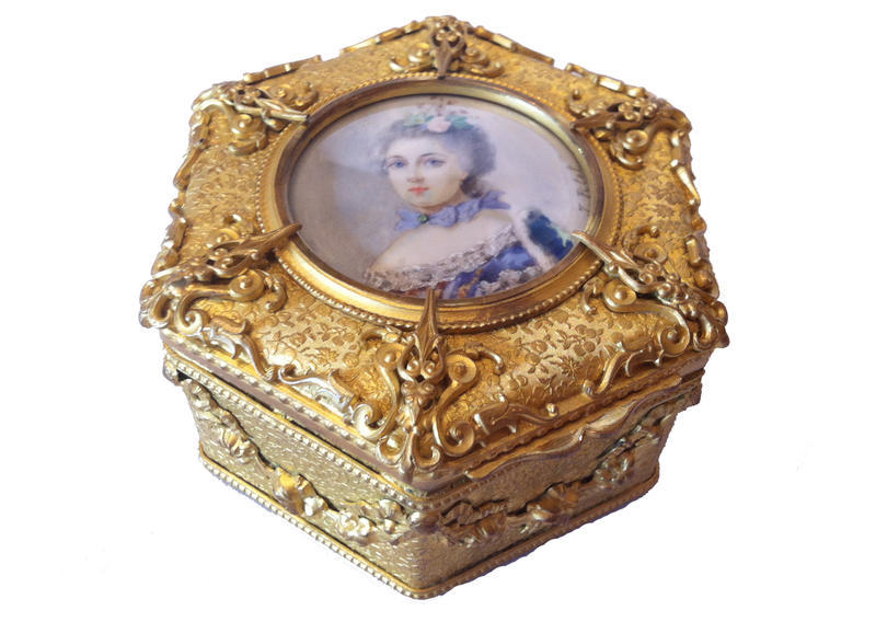 Hexagonal Ormolu Box