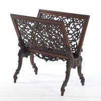 Rococo Revival Rosewood Folio Stand
