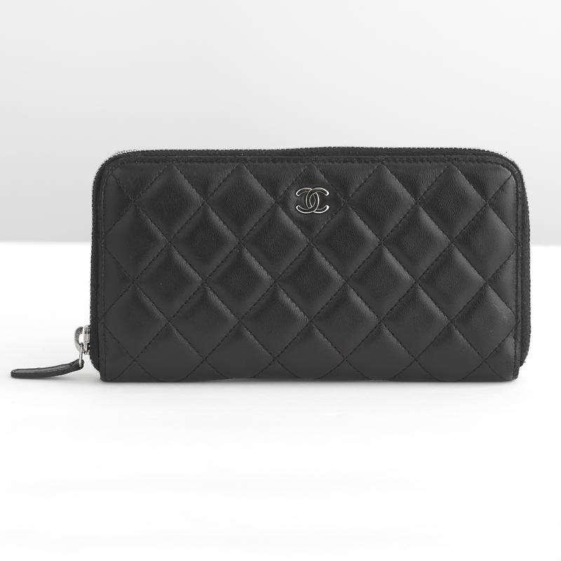 Chanel Quilted Zip-around