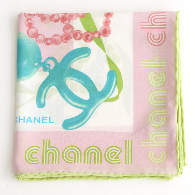 Chanel Pink Square Scarf