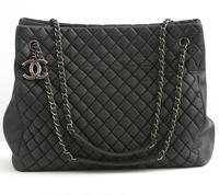 Chanel Charcoal 30cm Large Zip