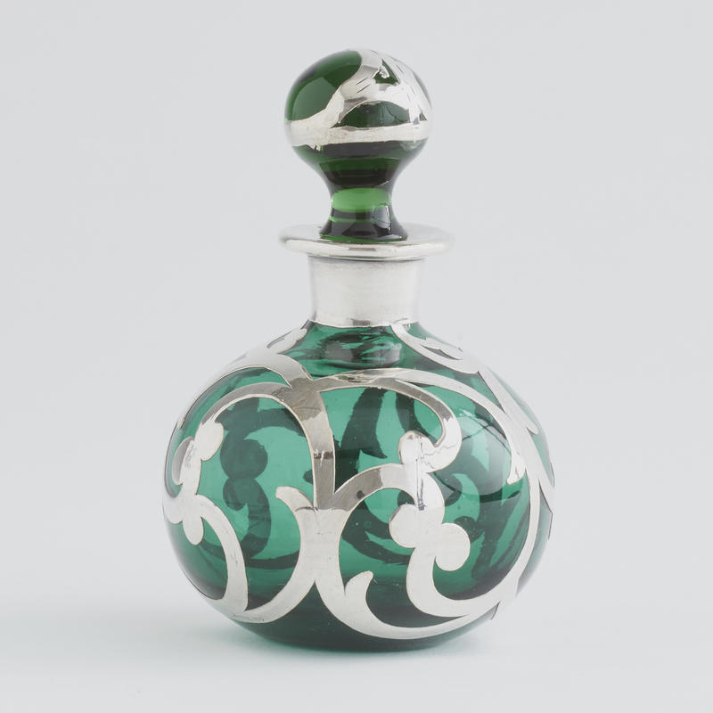 Green Silver Overlay Perfume