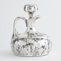 Low Silver Overlay Decanter