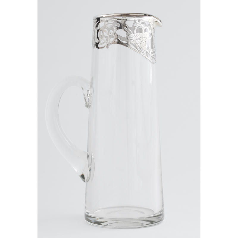Silver Overlay Drinks Pitcher