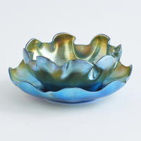 "Blue Favrile ""Queens"" Finger Bowl"