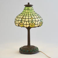 Tiffany Leaded Glass Desk Lamp