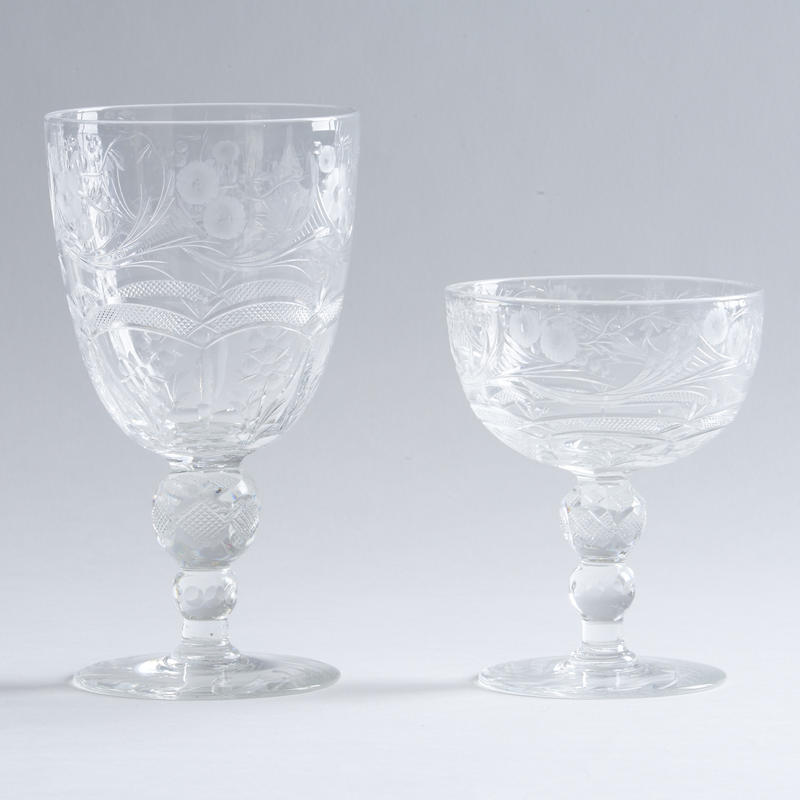 "24-pc. Set of ""Jewel"" Crystal Stemware"