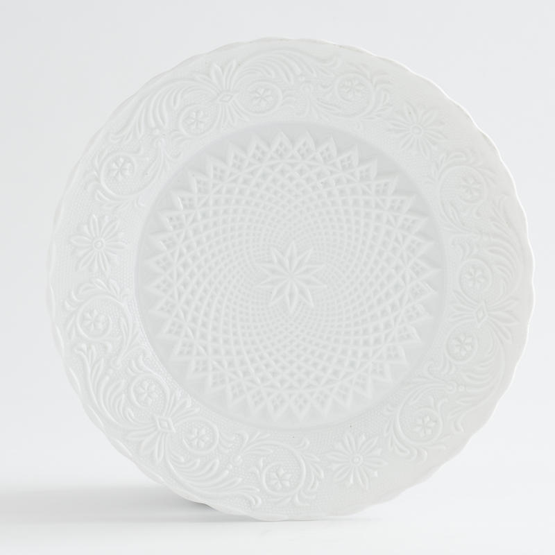 Set of 14 Embossed Salad Plates