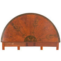 Edwardian Demilune Games Table