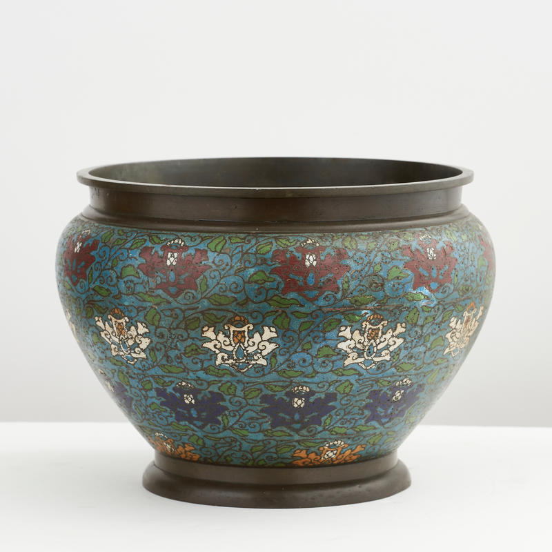 Antique Chinese Enamel Planter