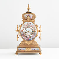 Viennese Enamel Mantle Clock