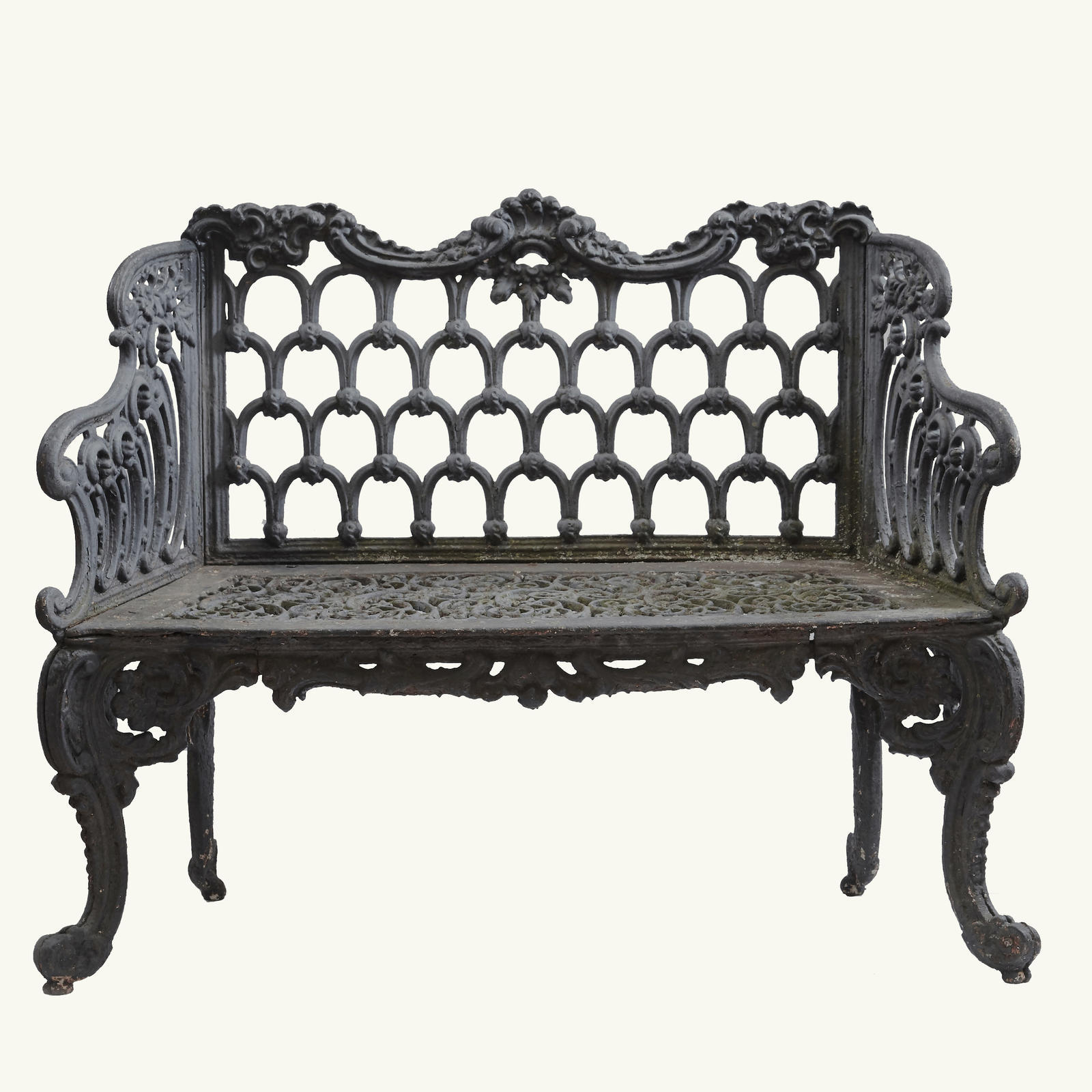 """White House"" Cast Iron Garden Bench Furniture"