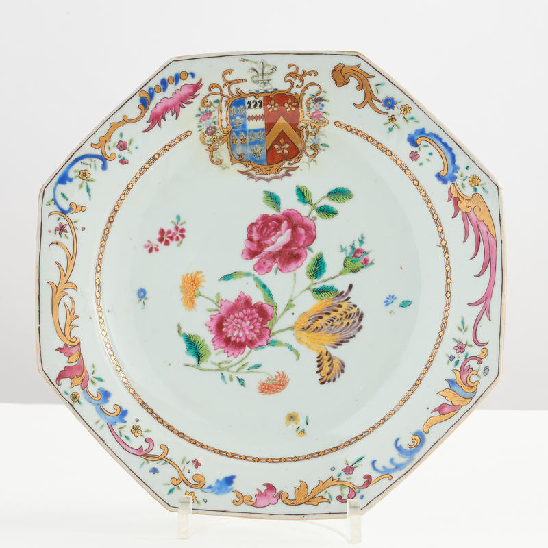 Export Porcelain Armorial Plate