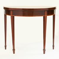 Pair of Adams Demilune Games Tables