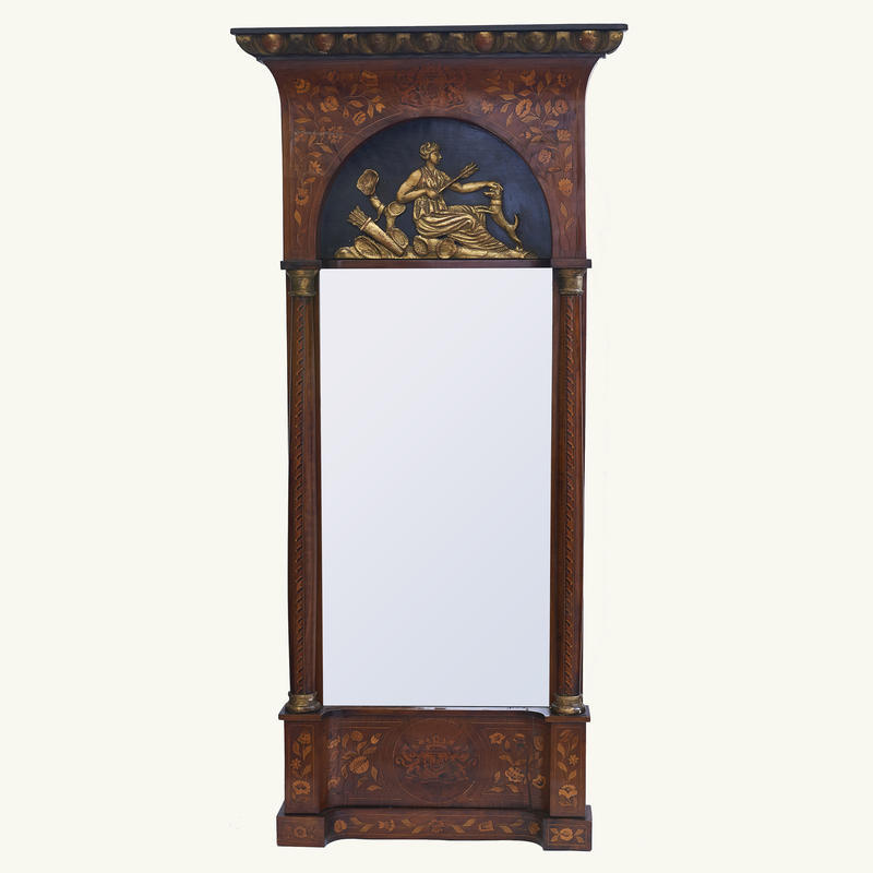 Empire Dutch Marquetry Pier Mirror