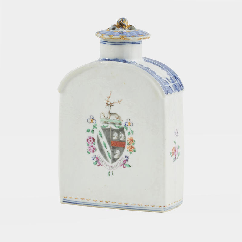 Armorial Export Porcelain Tea Caddy