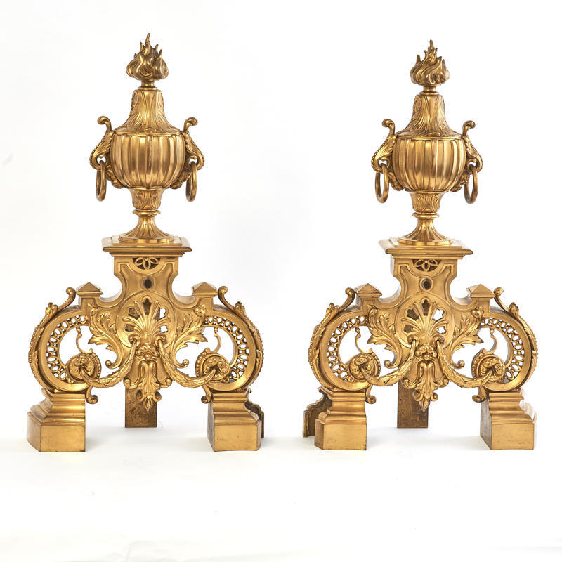 Pair of Louis XIV Style Chenets