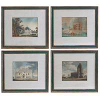 "Set of 4 ""Oriental Scenery"" Aquatints"