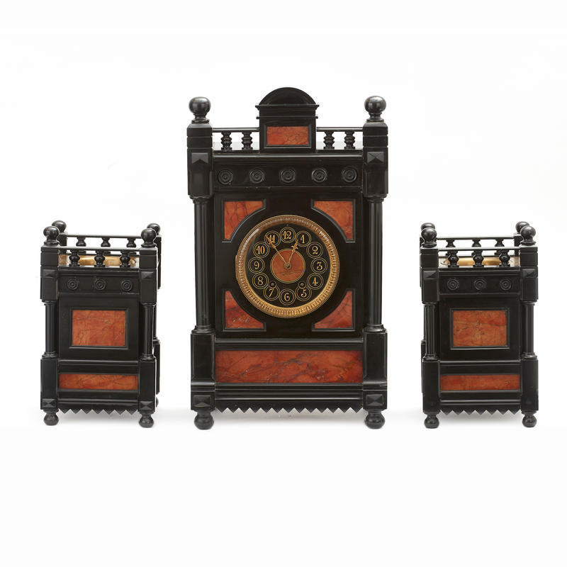 Eastlake Three Piece Clock Set