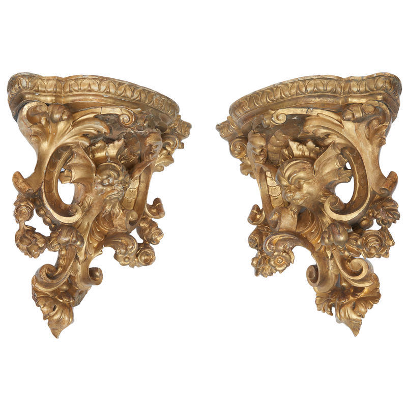 Pair of Corner Wall Brackets