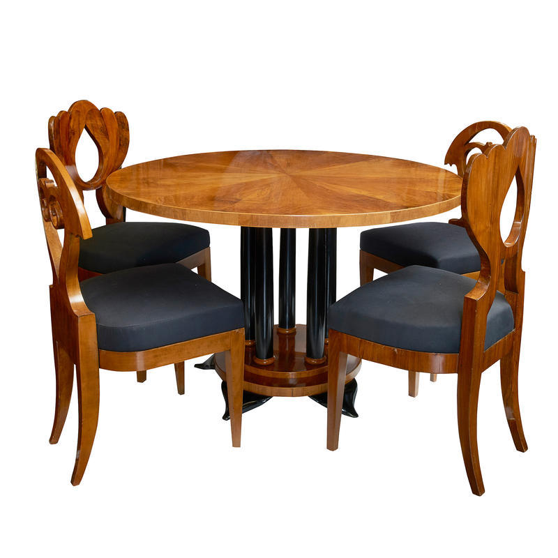 Biedermeier Table & Chairs