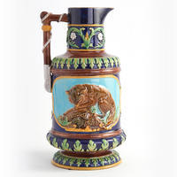 Aesthetic Movement Majolica Pitcher