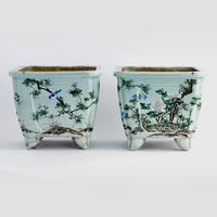 Pair of Celadon Planters