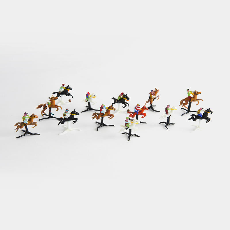"Murano Glass ""Polo Players"""