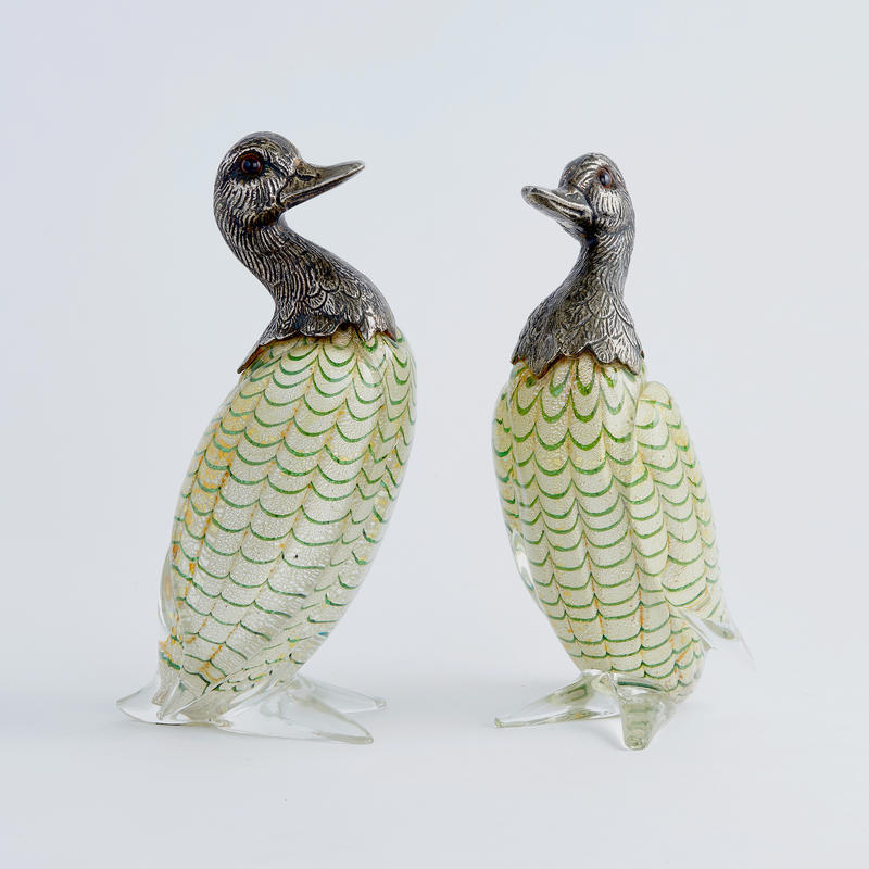 Pair of Murano Glass Ducks