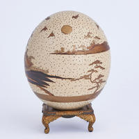Lacquered Ostrich Egg