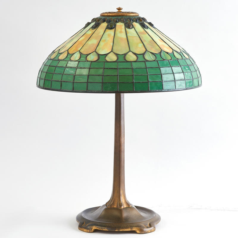 "Tiffany ""Jewelled Feather"" Lamp"