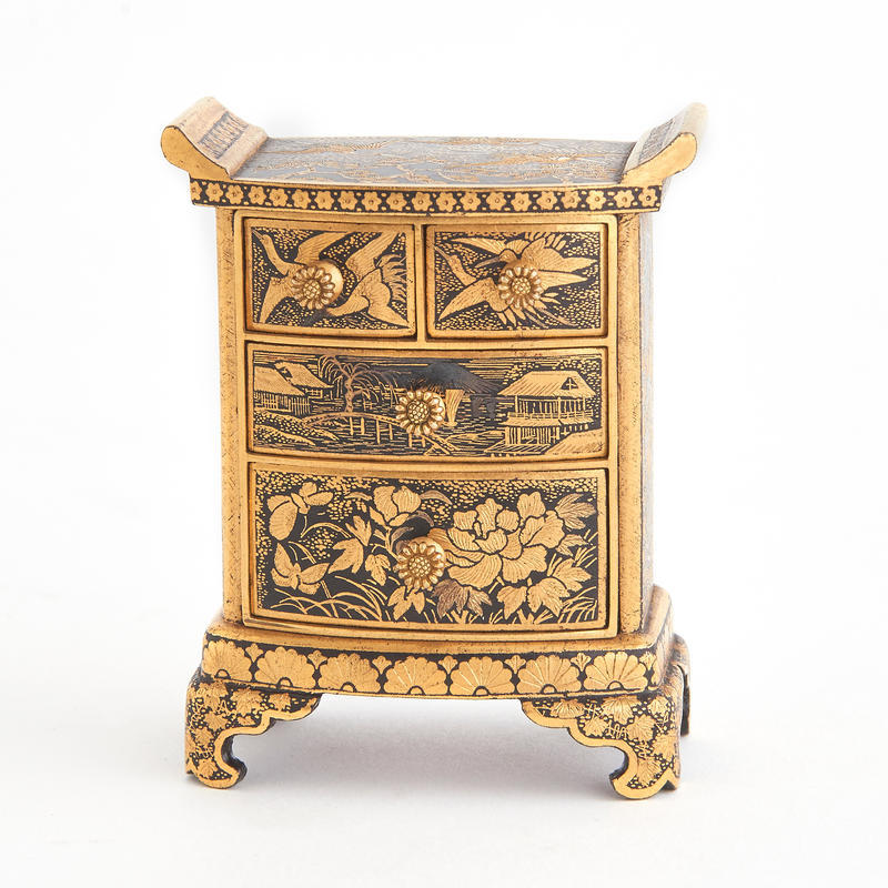 Damascene Tansu Chest