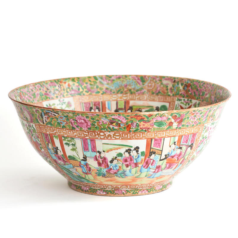 Large Rose Mandarin Bowl
