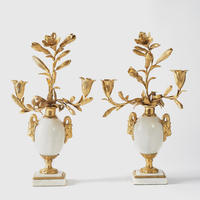 Pair of Floral Garnitures