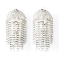 Pair of Beaded Wall Sconces