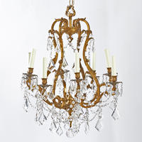 Crystal & Dor� Bronze Chandelier