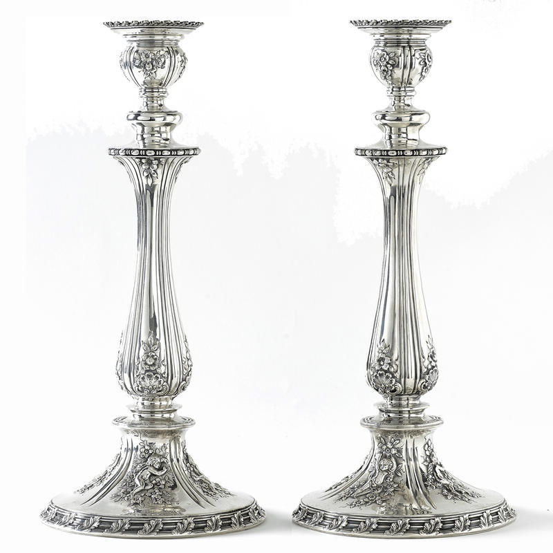 Pair of Sterling Candlesticks