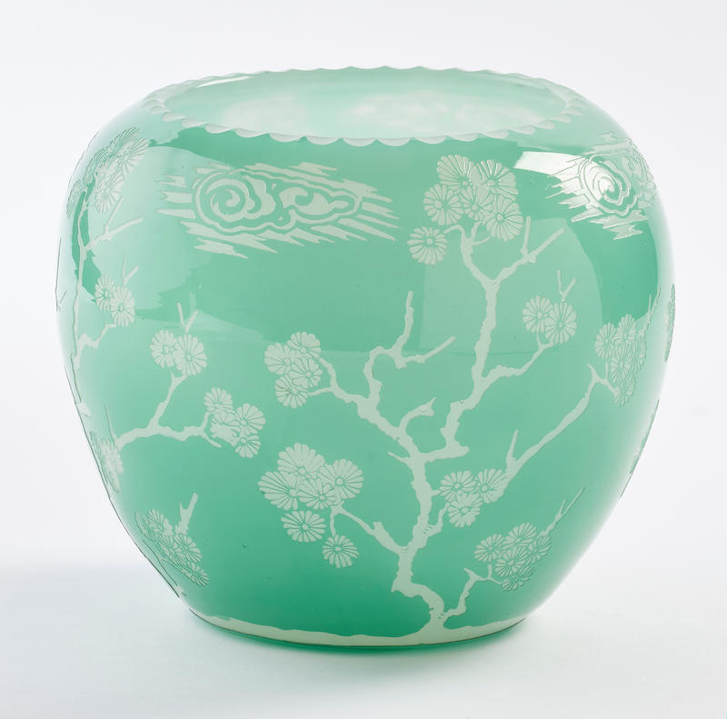 Jade and Calcite Vase