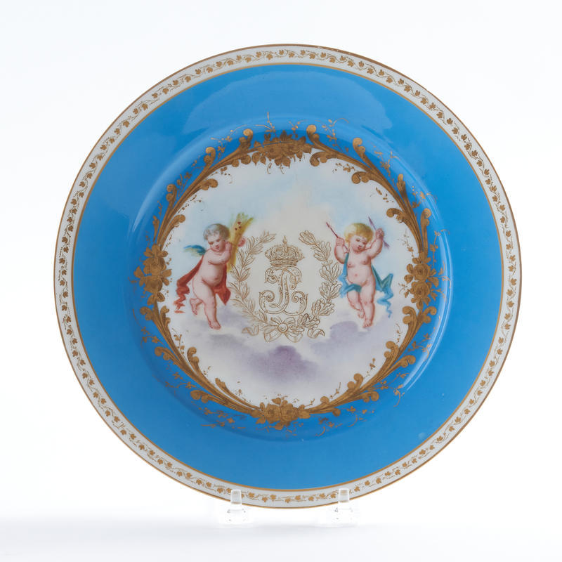 Set of 10 Louis-Philippe Style Plates