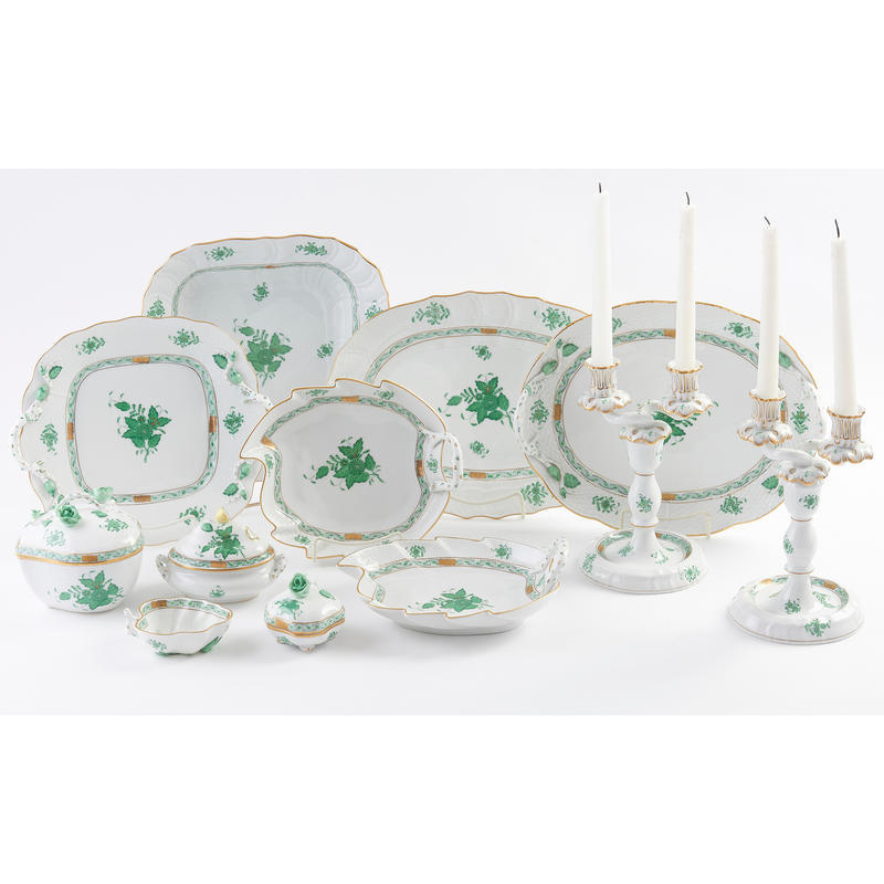 "Herend ""Chinese Bouquet Green"" Porcelain"