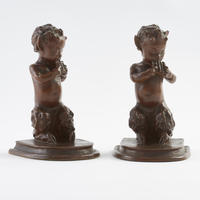 Bronze Satyr Bookends