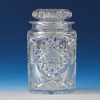 Cut Crystal Biscuit Jar