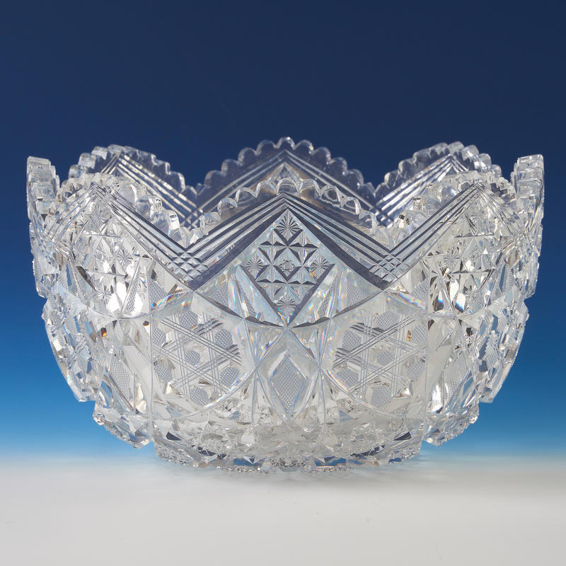 Cut Crystal Centerpiece Bowl