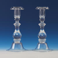 """Teardrop"" Crystal Candlesticks"