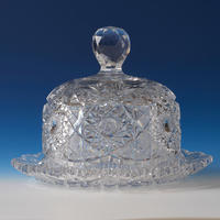 Cut Crystal Cheese Platter & Dome