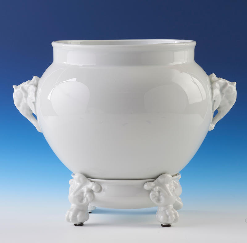 Blanc-de-Chine Cachepot on Stand
